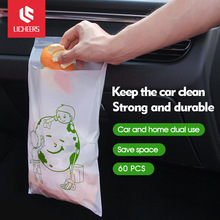 Licheers 60PCS Car Garbage Bag Disposable Trash Bags Sticking Type Auto Storage Bag For Car Home Office Kitchen Accessories