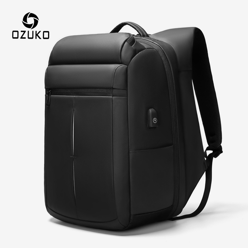 OZUKO Men Multifunction USB Charging Backpack Large Capacity 15.6 Inch Laptop Backpacks Male Casual Business Backpack Mochila