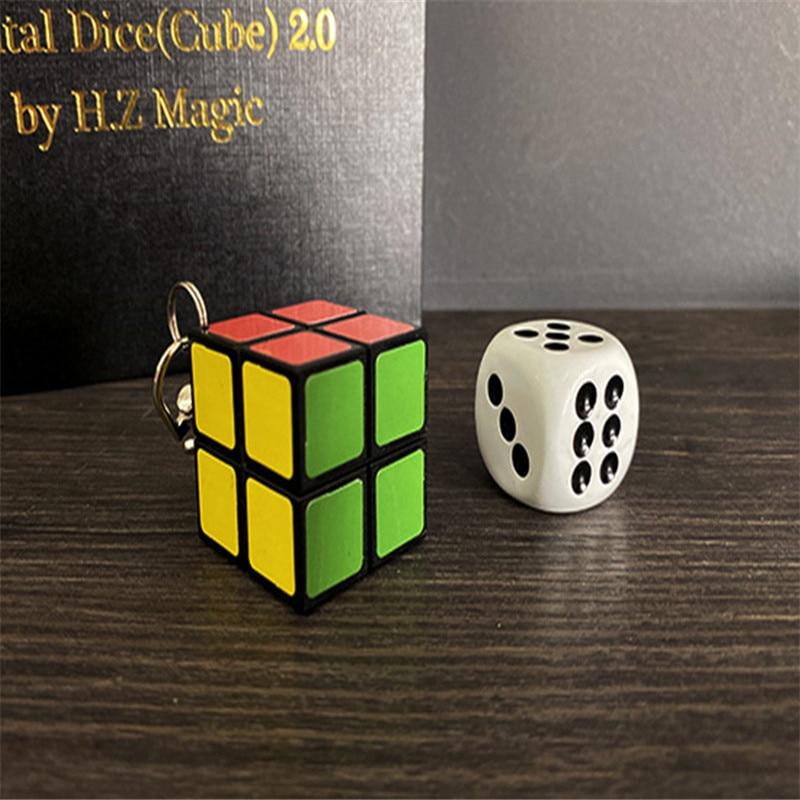Dés mentaux (Cube) 2.0 par H.Z magie sans fil recharge tours de magie gros plan âme prédiction Magia mentalisme Gimmick accessoires