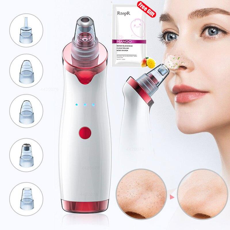 Aparato para limpieza profunda de la piel con espinillas, limpiador con punta de diamante de Zona T para nariz y resto del rostro, para la eliminación de espinillas, succión al vacío