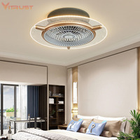 Creative bedroom Ceiling fan lamp Modern fashion ceiling fan with light kits invisible ceiling fan
