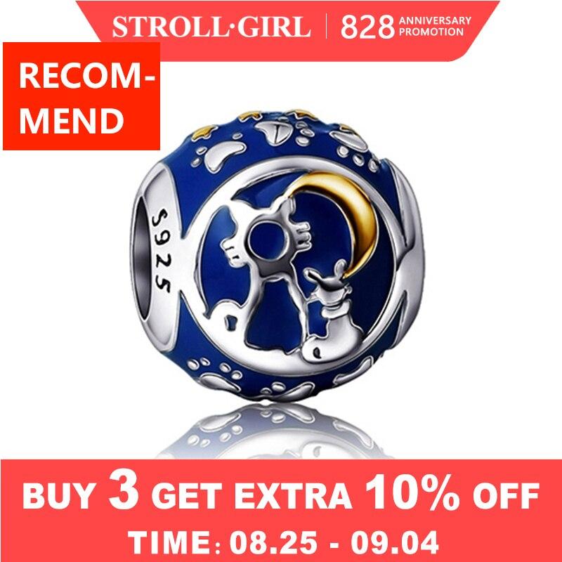 Enamel Charms Bracelet 925-Sterling-Silver Original Pandora Beads Jewelry-Making Heart