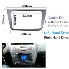 Fascia de Radio de coche para SEAT Altea (LHD) Placa frontal para unidad de mano izquierda para marco de panel de Radio kit de montaje de panel adaptador embellecedor bisel facia
