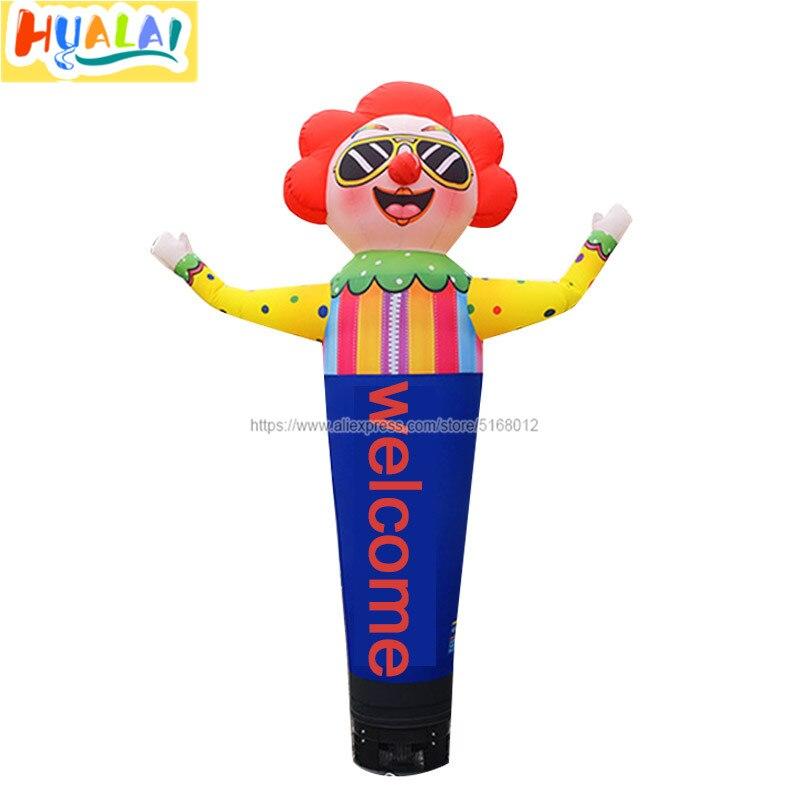 Наружная реклама надувная воздушная танцовщица клоун Герой мультфильма небесная трубка танцор Герой мультфильма вентилятора 3 м/9.8ft высокая