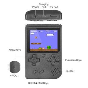 """Image 4 - Retro elde kullanılır oyun konsolu taşınabilir 8 Bit 400 1 klasik oyunları FC NES konsolu 3 """"monitör büyük ekran noel hediyeler"""