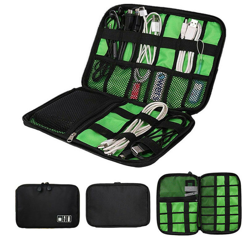 New Fashion Style Storage Bag Digital Organizer Kit Wire Pen USB Data Cable Earphone Bag