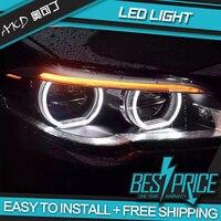 AKD Car Styling Head Lamp for F10 F18 Headlights 2010 2016 520i 525i 530i All LED Headlight DRL Hid Bi Xenon Auto Accessories