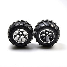 HSP Brand New 50017 Rubber Wheels Complete Set High Speed RC Off Road Car Spare Parts Wheel For HSP 1/5 Scale Monster Truck цена