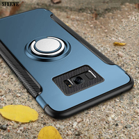 Ring Magnetic Case Voor Samsung Galaxy S8 S9 S10 Plus Note 8 9 10 Pro M10 M30 Behuizing Houder Telefoon back Cover Silicon Plastic
