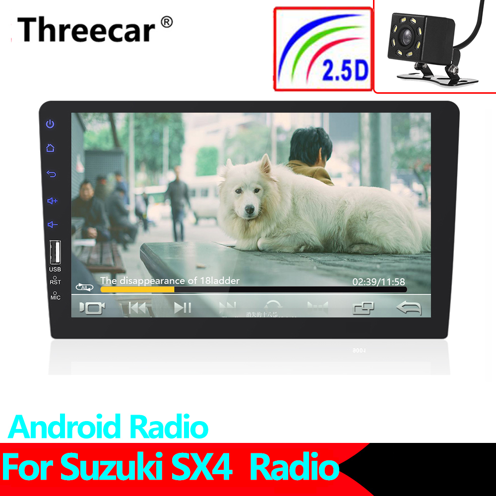 2Din 9'' <font><b>Android</b></font> gps MP5 Car Radio Tape Recorder Stereo WIFI Car dvd Player For <font><b>Suzuki</b></font> <font><b>SX4</b></font> <font><b>2006</b></font> 2007 2008 2009 2010 2011 2012 image