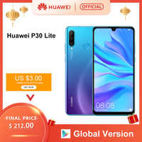 Version mondiale Huawei P30 Lite Smartphone Triple caméras 4G 128G Kirin 710 32MP caméra frontale 6.15 ''plein écran NFC