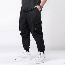 7XL 6XL 5XL XXXXL Man Jogger Pants Side Pockets Loose Style Men's Sweatpants Fas
