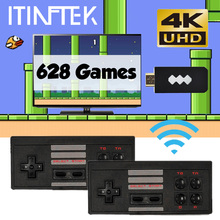 Built In 628 8 Bit Classic Game HD Mini TV Video Game Console 4K HDMI Wireless Controller Retro Childhood Game Console 2 Players