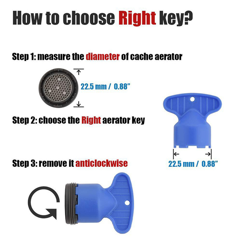 lohner repair removal tool home wrench cache filter faucet aerator key kitchen basin abs replacement install for m16 5 m24