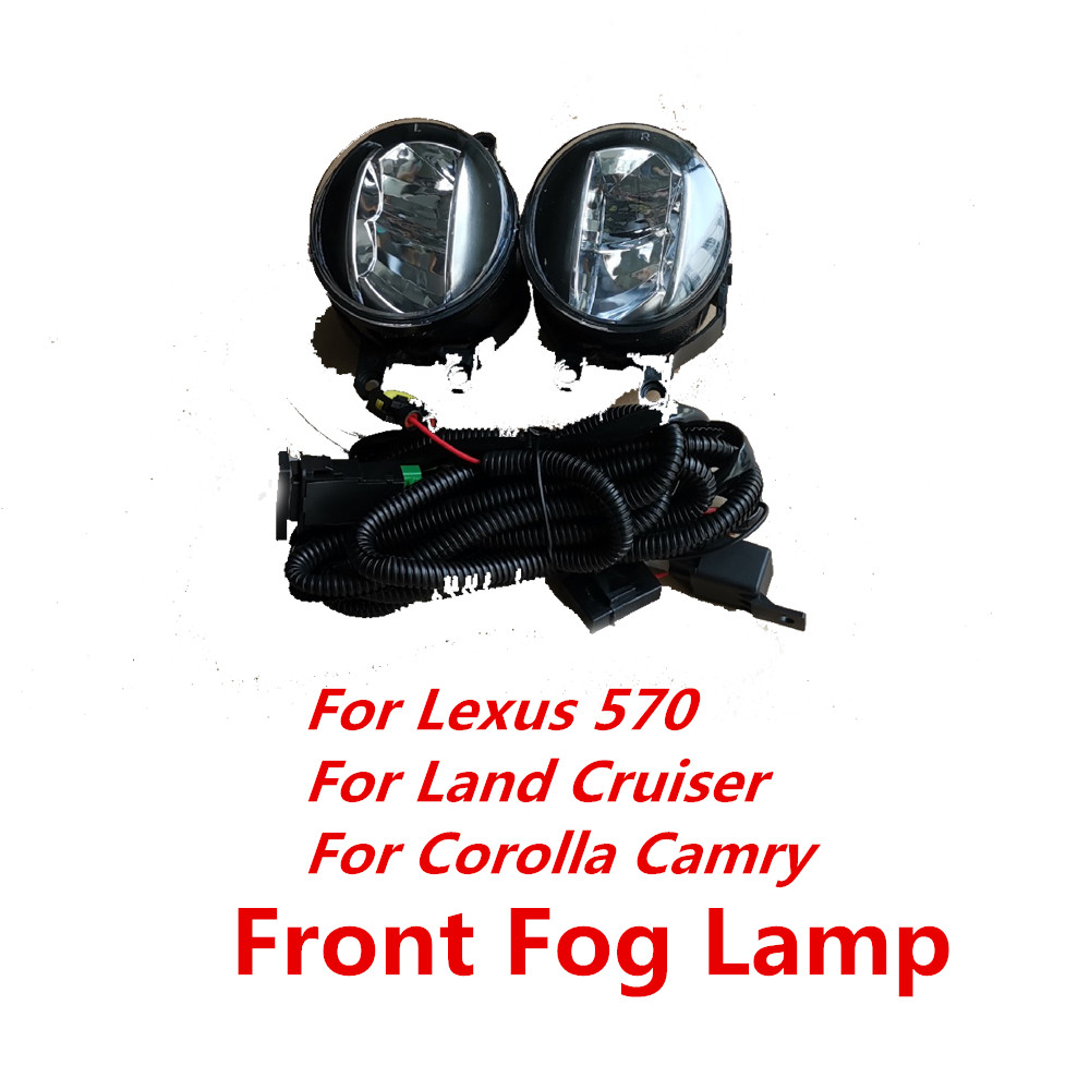 Pair For <font><b>Lexus</b></font> 570 <font><b>LX570</b></font> For Land Cruiser For Corolla Camry Front <font><b>Fog</b></font> <font><b>Light</b></font> Anti-<font><b>Fog</b></font> <font><b>Light</b></font> <font><b>Fog</b></font> Lamp image