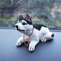Akcesoria samochodowe Cute Dog ozdoby samochód potrząsając głową zabawka żywica mała lalka Auto dekoracje wnętrz Adorno de coche Dropshipping c