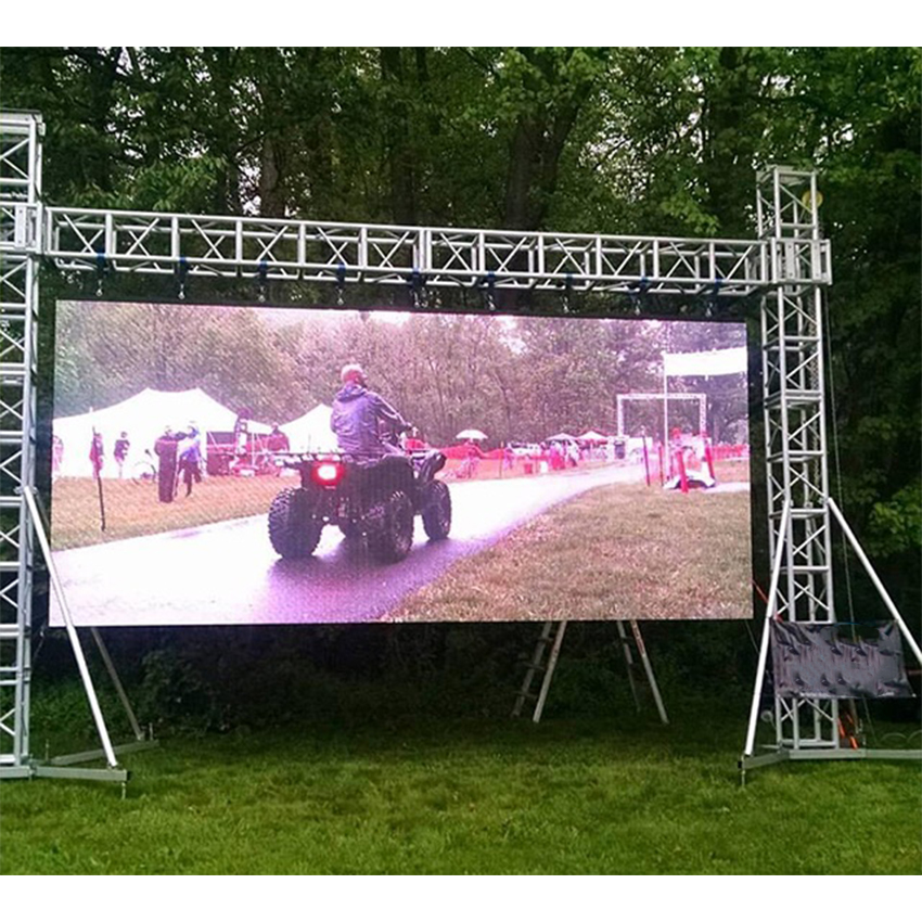 High Definition P4 Outdoor Led Display 512x512mm Panel 128*128dots Die Casting Aluminum Cabinet P4 SMD Display Rental Led Screen