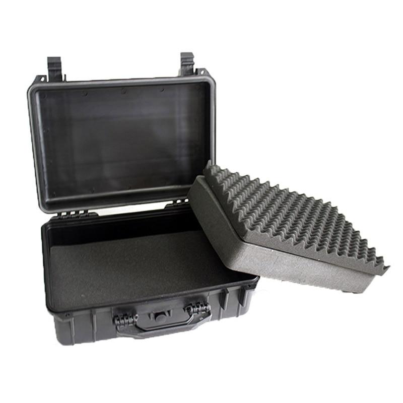 Gereedschapskoffer gereedschapskoffer koffer Slagvast afgedichte waterdichte kunststof koffer apparatuur doos camerakoffer Meterkast met voorgesneden schuim