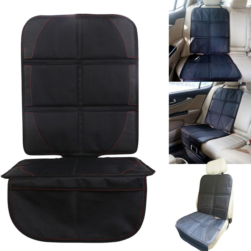 Polyester PU Car Seat Cover Protector Mat Child Baby Kid Chairs Seat Protection Cushion Pad Auto Car Accessories Black