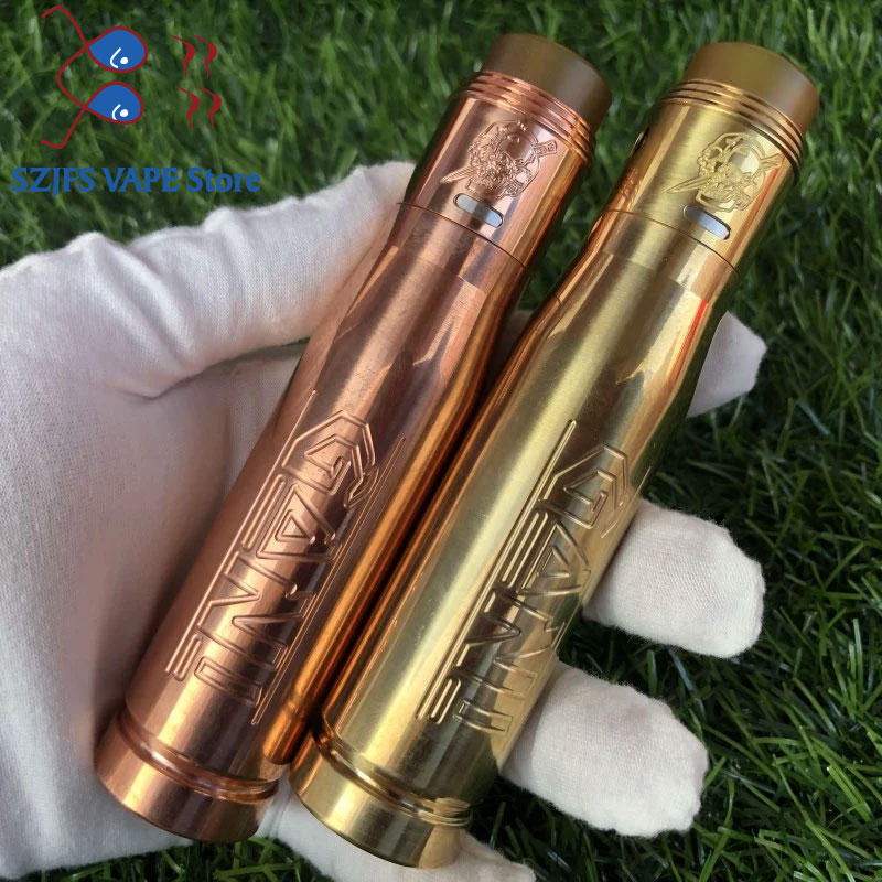 Gani Mech Mod Vape Mods Gani Bullet E-cigarette Mods SS/Brass/Copper 18650 Mechanical Mod Vs  Apocalypse GEN 2 RDA Summon Mod