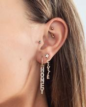 Boucle d'oreille pour femmes, couleur argent or, bijoux à la mode, cadeau de la saint-valentin, lettre cz, miel, breloque