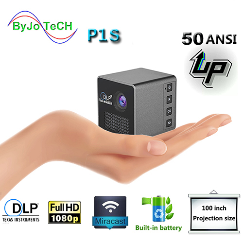 ByJoTeCH PS Wireless Mobile Projector Support Miracast DLNA Pocket Home Movie Projector Proyector Beamer Battery