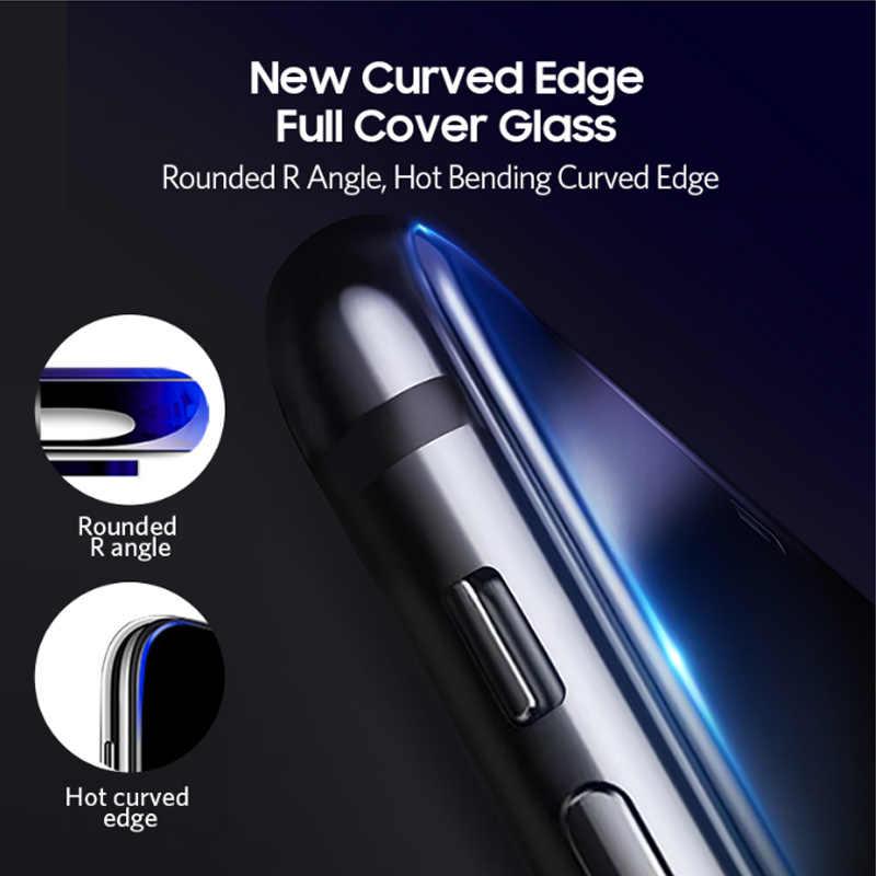 Benks Melengkung HD Anti-Spy Tempered Glass untuk iPhone X XS Max XR 5.8-6.1 Inci Privasi Lengkap pelindung Layar Bending Film Depan