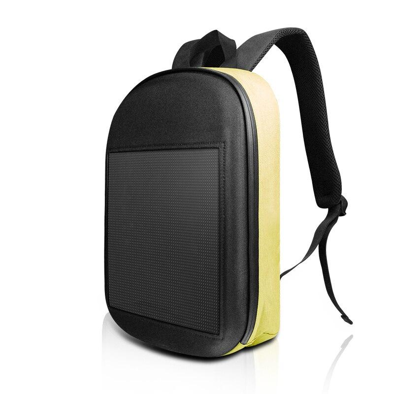 SOLLED LED กระเป๋าเป้สะพายหลัง DIY ไร้สาย WIFI APP Control โฆษณากระเป๋าเป้สะพายหลังกลางแจ้ง LED เดินป้ายโฆษณากร...