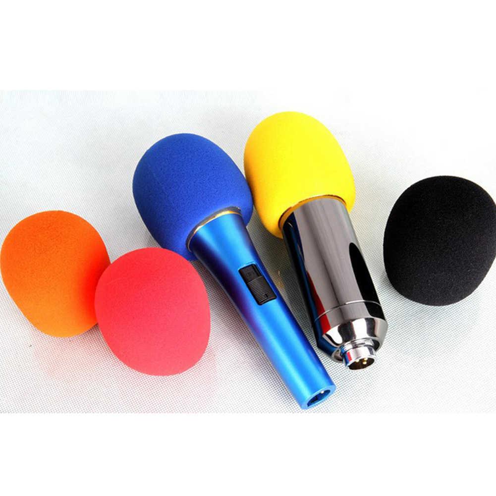 5 ชิ้น/เซ็ตอุปกรณ์เสริมกลางแจ้ง Windproof ป้องกันโฟม Ball Shape เปลี่ยนแบบพกพาไมโครโฟนฝาครอบ