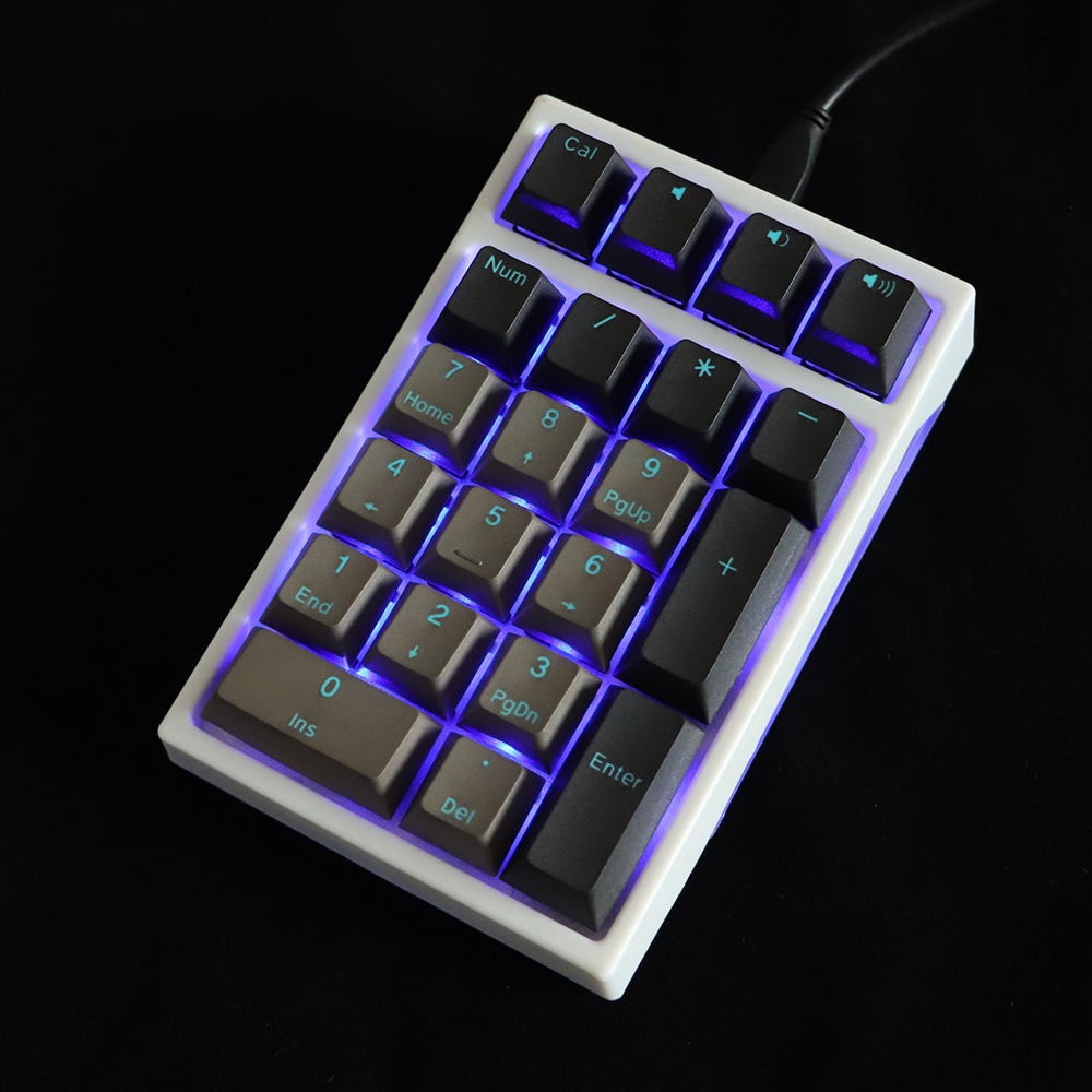 Double Shot Keycap Pbt Pudding 21key Numpad Multimedia Key F1-F12 Keycaps