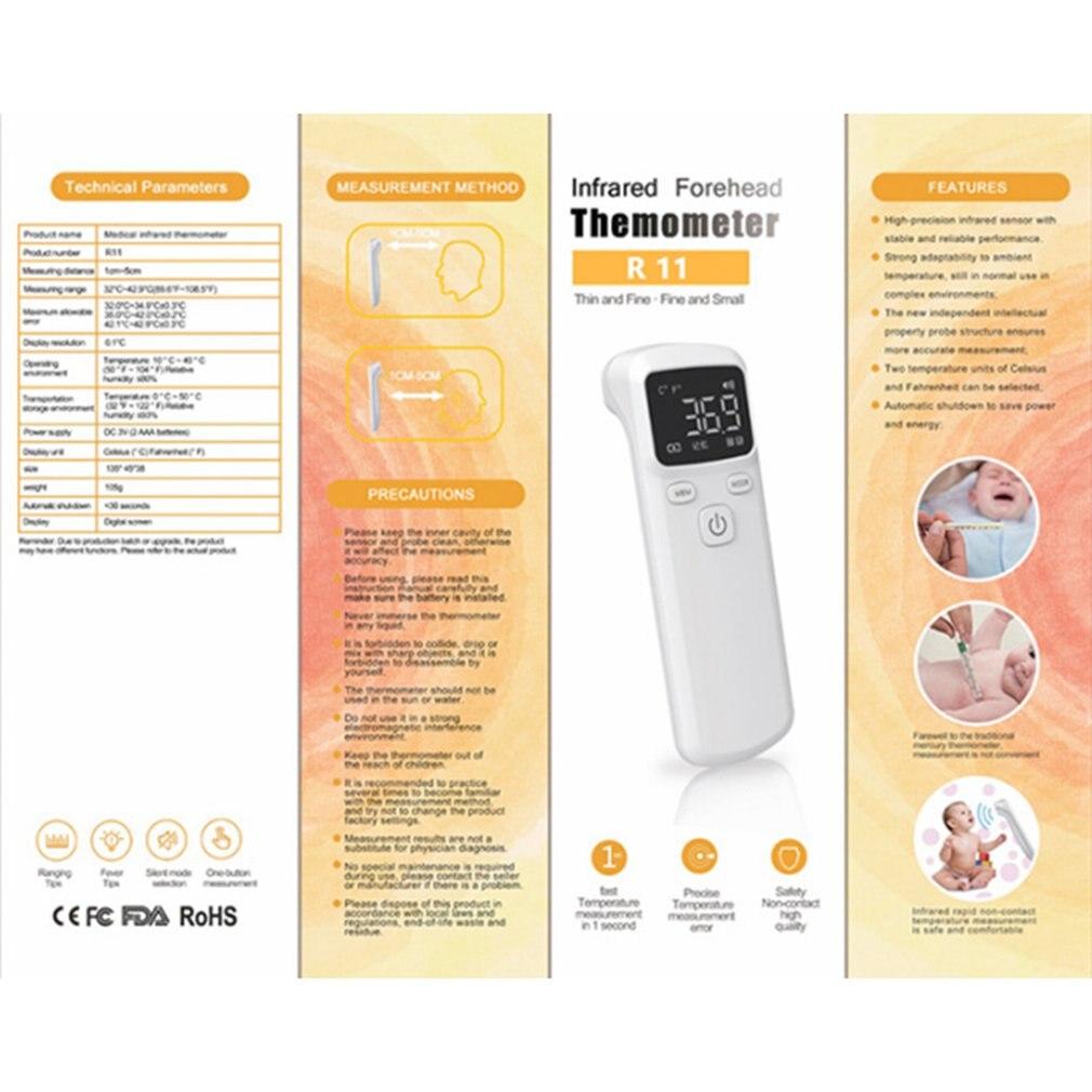 Прямая доставка Бесконтактный инфракрасный термометр портативный инфракрасный термометр для измерения температуры высокой точности тела...