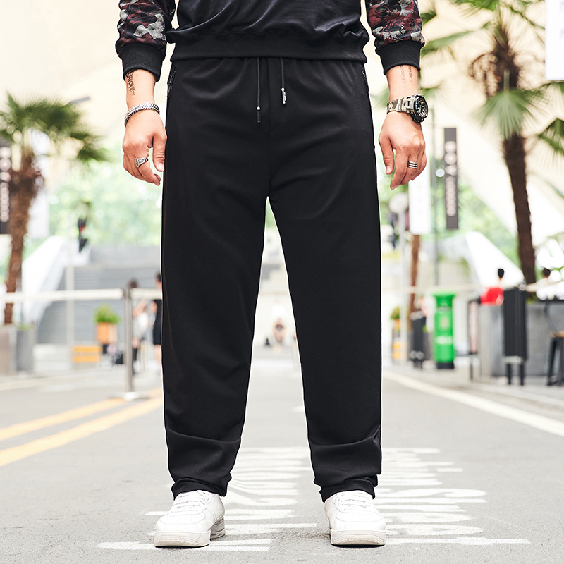 Sweat-Pants Streetwear Mens Joggers Loose for 135KG Big And Tall Sloid-Color Plus-Size title=
