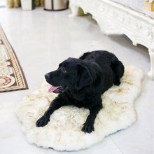 Faux Fur Orthopedic Dog Bed Curve White Dog Rug For Big Medium Small Puppys Support Dropping Shipping(China)