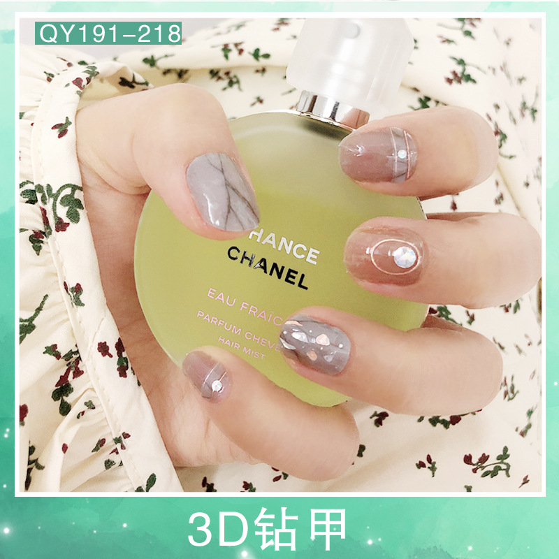 Spring 3D Drilling Jia Jia Stickers With Diamond Nail Sticker Crystal Laser Nail Sticker Stick Completely Malibu Nail Sticker Wa