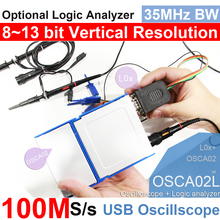 LOTO USB/PC Oscilloscope OSCA02, 100MS/s Sampling Rate, 35MHz Bandwidth, for automobile, hobbyist, student, engineers free shipping 6022be usb analog oscilloscope portable virtual oscilloscope pc oscilloscope kit bandwidth 20m sampling rate 48m