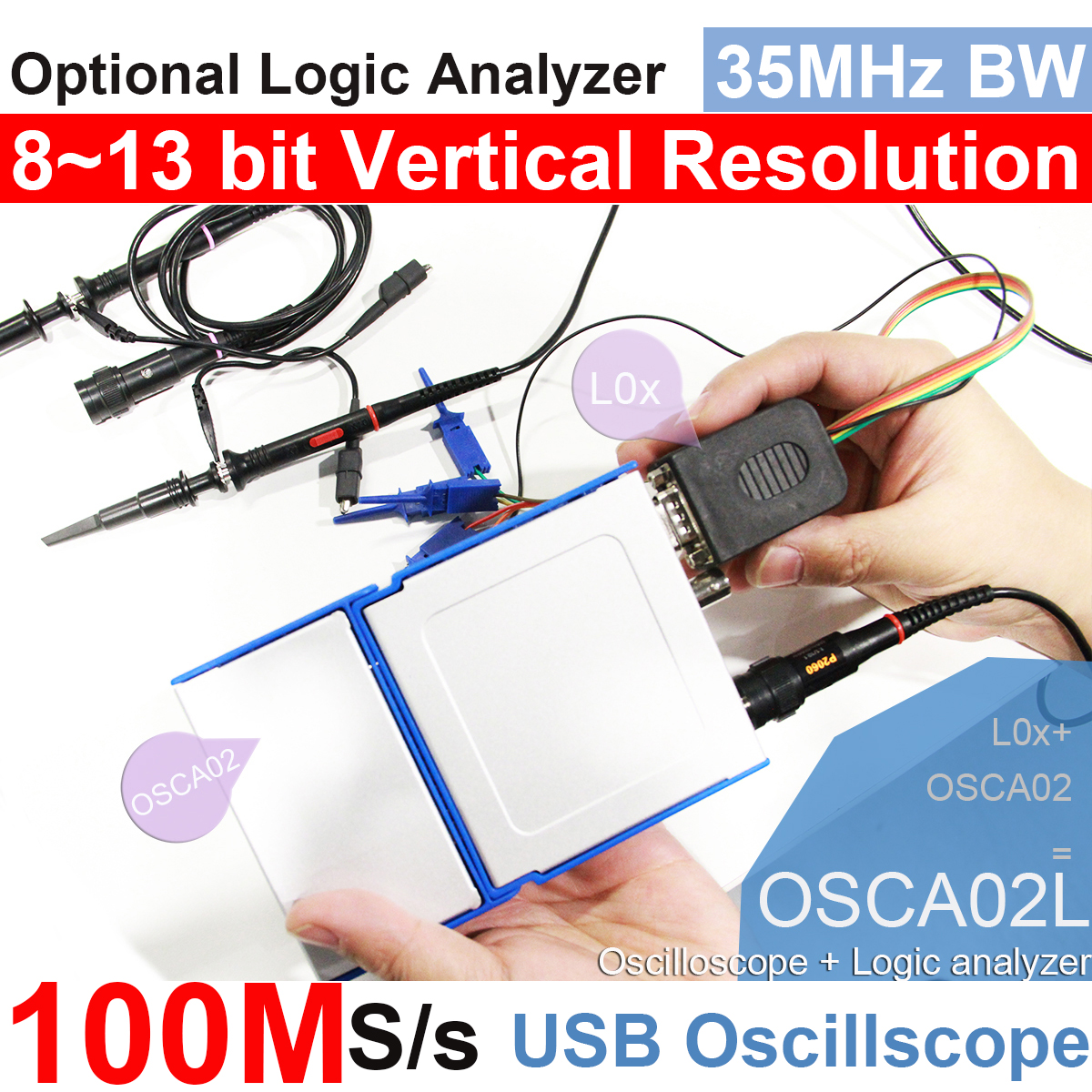 osciloscopio port/átil a l/ápiz rds1021 Osciloscopio 1/PC osciloscopio 25/MHz Ancho de banda de 100/ms//S Frecuencia de muestreo