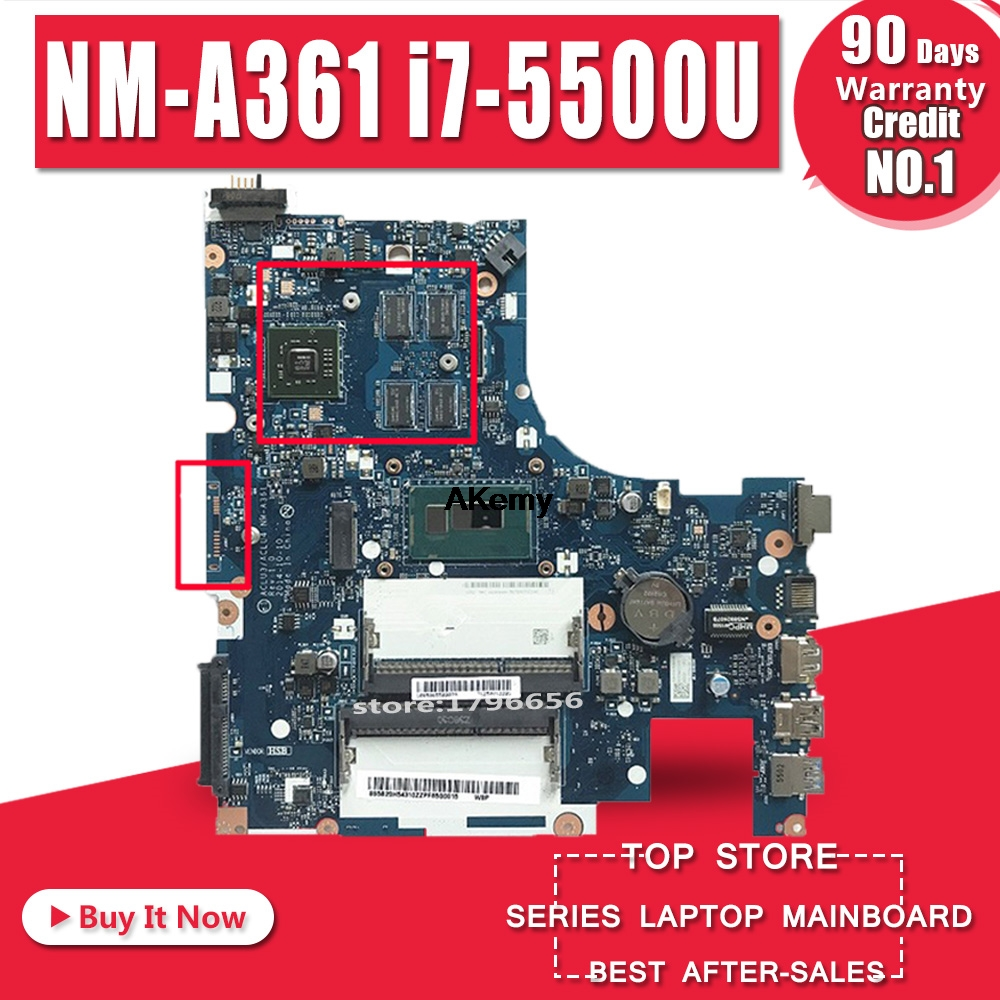 NM-A361 Motherboard For Lenovo G50-80 ACLU3/ACLU4 NM-A361 PM Laptop Motherboard Notebook I7-5500 CPU Original Test