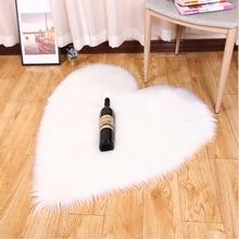 1 Uds alfombras esponjosas antideslizantes alfombra peluda para comedor alfombra de dormitorio para hogar