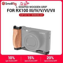 SmallRig RX100 M6 Camera Vlog L Shaped Wooden Grip w/ Cold Shoe for Sony RX100 III/IV/V(VA)/VI/VII M5 / M4 Camera 2438