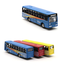 Teraysun 12pcs Model Cars Buses 1:150 HO TT Scale Railway Layout Diecast model bus