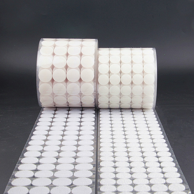 White Black 10mm 15mm 100 Pairs Glue Hook And Loops Sticker Strong Self Adhesive Dot Nylon Waterproof Adhesive Fastener Tape