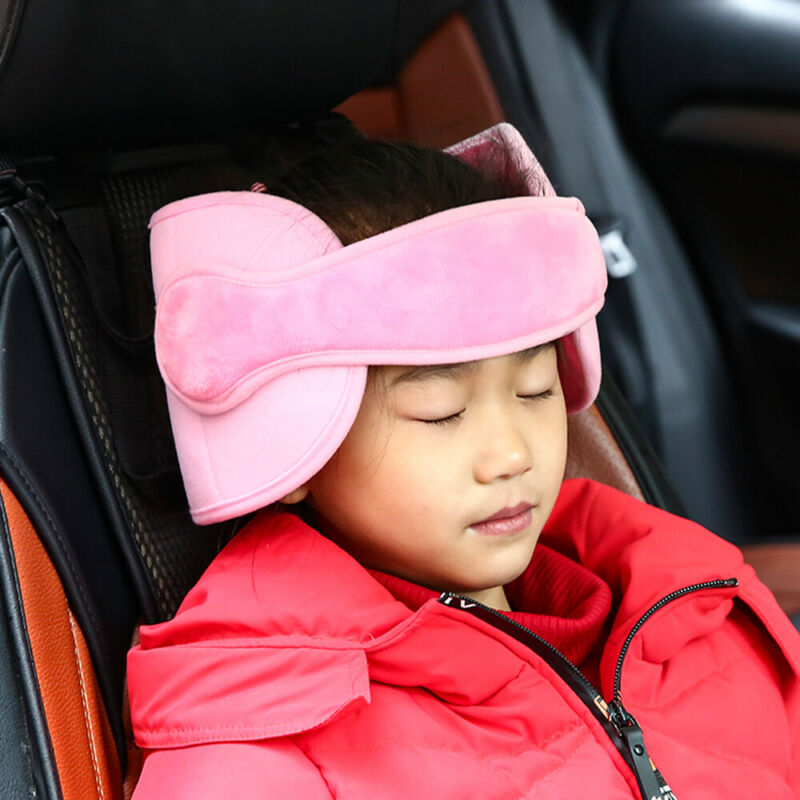Child Car Seat Head Support Protector Belt Comfortable Safe Sleep Headrest Solution Pillows Belt Stroller Soft Baby Head Support