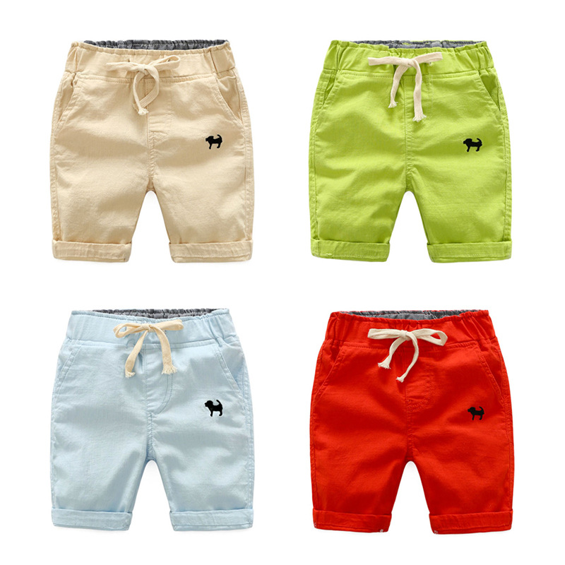 Boy Summer Beach Shorts Baby Pants Boys Shorts Casual Embroidery Children Thin Trousers Infant Elastic Waist Kids Boy Clothing
