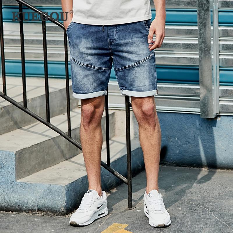 【Kuegou】 Men's Denim Shorts Men's Fashion Cultivate One's Morality Leisure Jeans Summer Five Minutes Of Pants KK-2926