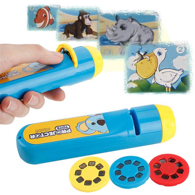 Camera Portable Flashlight Projection Realistic Toys
