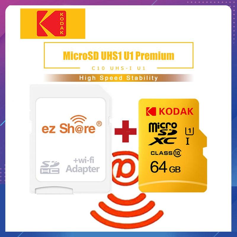 Ezshare Wireless Wifi Adapter Kodak Micro SD Card 16gb 32gb Class10 Microsd Wifi Wireless TF Card 64gb 128GB Memory Card