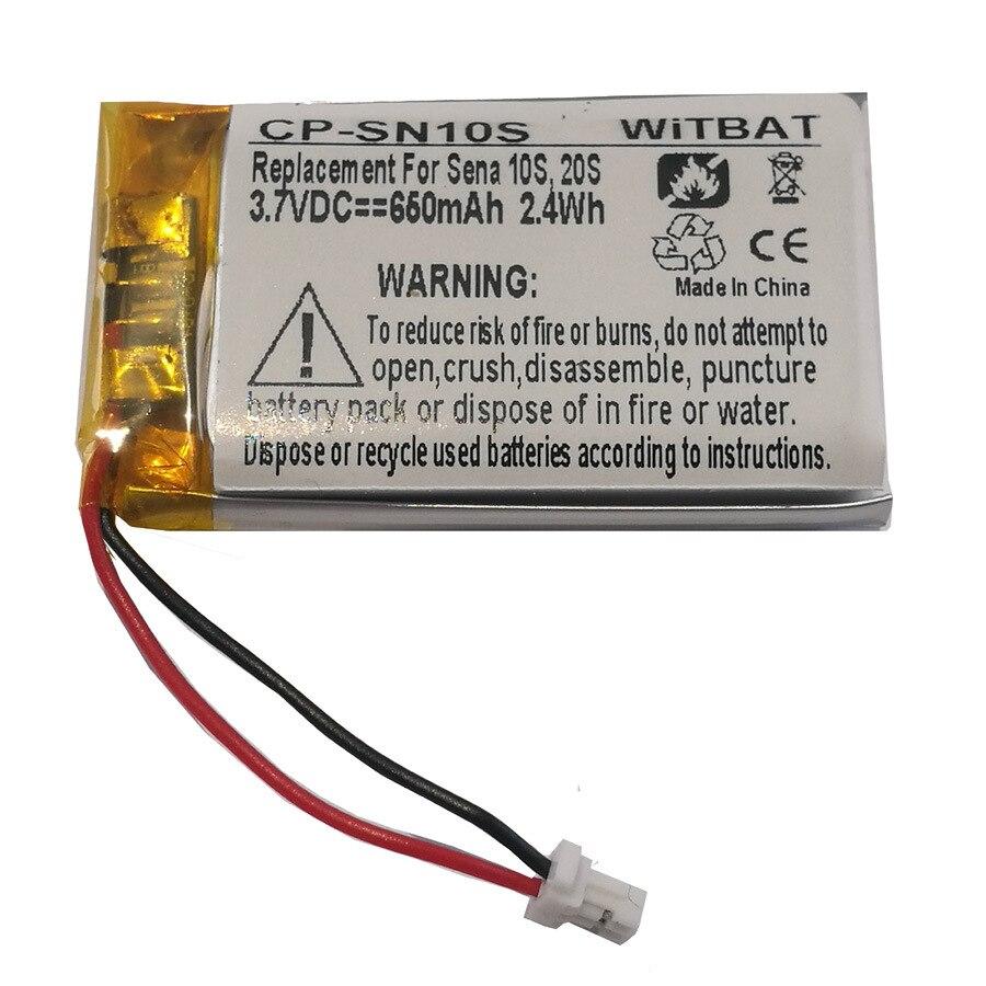TTVXO 650mAh Battery For Sena 10S, 20S Headset