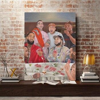Macミラージュースwrldリルのぞき見xxxtentacion塗装壁アートキャンバスリビングルームの家の寝室の研究寮装飾プリント
