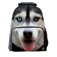 Cute Students Puppy Animals Pack Manufacturers Direct Selling Shoulder School Bag Large Capacity 1680D Polyester Backpack