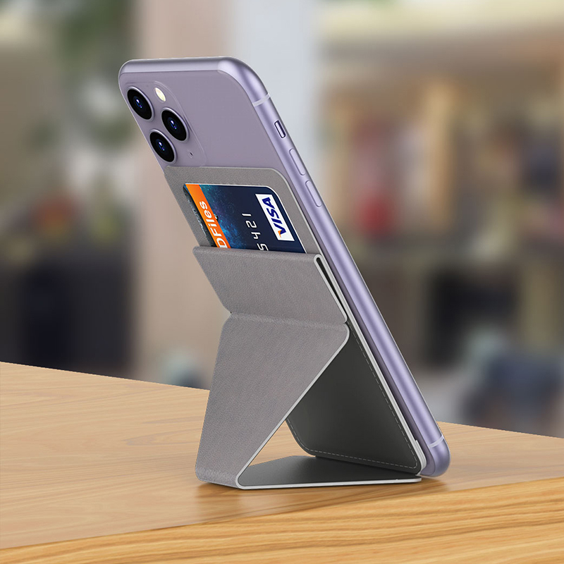 Adjustable Phone Card Holder Foldaway Cell Phone Stand For IPhone 11 Pro Max Pocket Finger Ring Grip Kickstand Car Mount Holder
